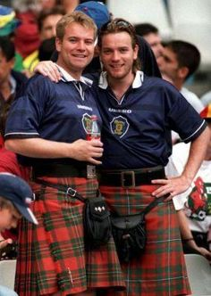 [Colin and Ewan McGregor #Kilts #Irish #StPattysDay]  ...   Great photo / nice kilts! / handsome men