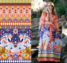 print designer Catalina Estrada for Anunciacao fall 2012.
