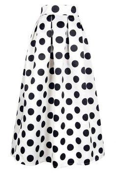 Maxi spódnica w kropki - polka dots maxi skirt