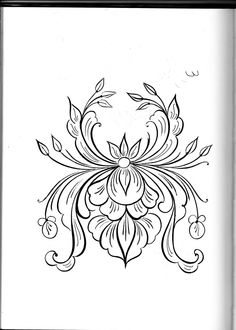 Booksmart Hand Embroidery Patterns Iron On Transfers - Embroidery Design Guide Folk Embroidery, Hand Embroidery Patterns, Tole Painting, Fabric Painting, Rosemaling Pattern, Norwegian Rosemaling, Scandinavian Folk Art, Painting Patterns, Pattern Art