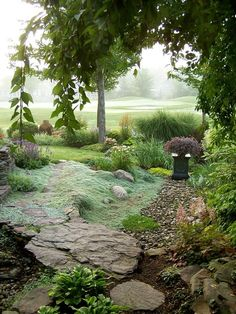 Wooly thyme like tumbling water. From Fine Gardening. Wooly Thyme, Landscape Design, Garden Design, Creeping Thyme, The Secret Garden, Fine Gardening, Exterior, Parcs, Garden Spaces