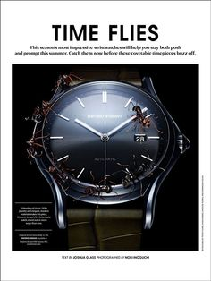TIME FLIES / Essential Homme Magazine June/July on Behance