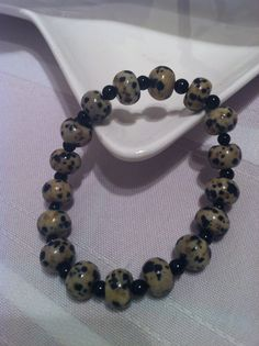 Gorgeous Jasper rounds and black onyx.