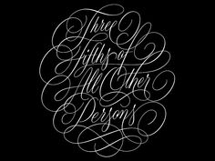 All Other Persons Vector designed by Ryan Hamrick. Connect with them on Dribbble; Script Type, Calligraphy Letters, Types Of Art, Vector Design, Hand Lettering, Typography, Flourishes, Book Covers, Inspiration