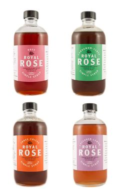 All of the organic syrups from Royal Rose sound so yummy. When I make press coffee at home, I often sprinkle cardamom into my cup and I think the Cardamom-Clove syrup will be amazing in both hot or. Cool Packaging, Coffee Packaging, Bottle Packaging, Print Packaging, Homemade Syrup, Healthy Shopping, Message In A Bottle, Food Labels, Packaging