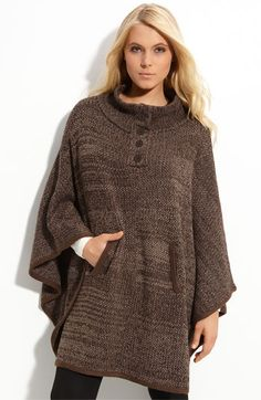 leggings? Check...... boots? Check...... this textured knit poncho? A MUST!