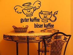 Lovely Guter Kaffee B ser Kaffee Wandtattoo K che Wanddek