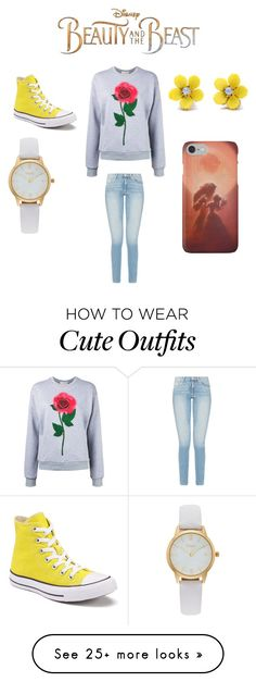 """""""Beauty and the Beast Inspired Outfit"""" by eyancey72 on Polyvore featuring Disney, Christopher Kane, Converse, WithChic, Vivani, BeautyandtheBeast and contestentry"""