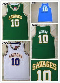 2d2f75f2a ... 2017 TBA OKLAHOMA SAVAGES University Basketball Jerseys 10 Dennis  Rodman College Basketball Jersey Free Shipping ...