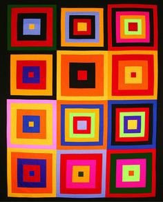 Colorful Kona Squares Free Pattern: Robert Kaufman Fabric Company