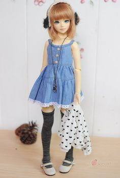 U-noa Girly denim set от wimukt на Etsy