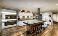 The Secret of Stunning Ultra-Modern Kitchen Island Design Ideas - decoruntold Kitchen Layouts With Island, Modern Kitchen Island, Asian Kitchen, Japanese Kitchen, Bar Kitchen, Kitchen Ideas, Kitchen Islands, Japanese Bathroom, Nice Kitchen