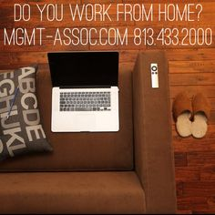 Do you #WorkFromHome? Where is your favorite place to get work done?  We personally #love to work from home on the sofa! Tell us which room you get the most work done in at #home! Comment below! www.mgmt-assoc.com 813.433.2000 #Homeowner #CozyHome #WorkSpace