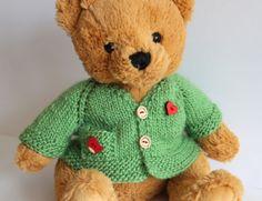 Jacke-fuer-ca-35-40cm-Teddy-mit-Herz-Unikat-Neu-Puppenkleidung-Kleid-Vogel-Holz