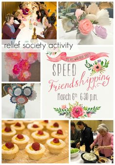 Our Speed Friendshipping Party was so fun - a great way to get to know each other better and enjoy each other.