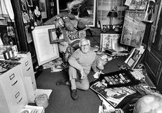 Ray Bradbury working at home | Photos of 15 famous authors writing in their rooms