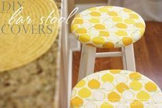 DIY bar stool covers -- for kitchen when I finally get stools??? #ChairCovers