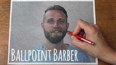 Ballpoint Barber // Stop-motion Reverse Haircut and Beard-cut // Trim 2. Tom gets his facial hair drawn on via a magic pen.   300 printed pa...