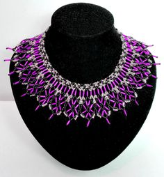 Free Pattern For Beautiful Beaded Necklace Monaco | Beads Magic