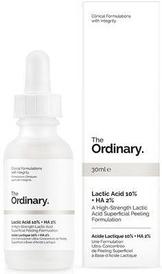 The ordinary Lactic Acid 10% + HA 2% - 30ml. Deciem website
