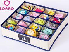 LOAAO new hot storage box bins home organizer boxes Foldable Socks Ties underwear box fashion storage organizer bags