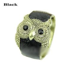 Retro Classic New Women's Fashionable Personality Owl Bracelet Jewelry Bangles Bangle Color:Black * Find out more about the great product at the image link.