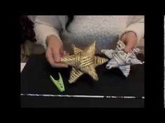 Stern Basteln aus Papier Röllchen - YouTube