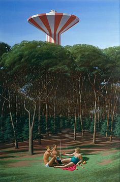 View The Picnic By Jeffrey Smart; oil and synthetic polymer paint on canvas; 106 X cm; Access more artwork lots and estimated & realized auction prices on MutualArt. Alex Colville, Australian Painting, Australian Artists, Julia Gillard, Charles Sheeler, Jeffrey Smart, Critique D'art, Terra Australis, Magic Realism