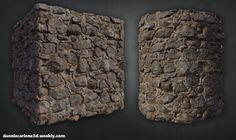 Old Stone Wall - Zbrush + Substance Designer, Dannie Carlone on ArtStation at https://www.artstation.com/artwork/OP9d6
