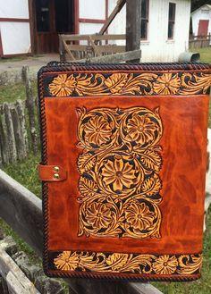 Note Book / Portfolio / Custom / Western / Leather by Delosleather