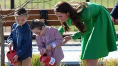 The Duke and Duchess of Cambridge spent the morning at the National Arboretum in Canberra, planting an oak tree.