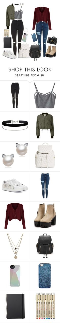 """""""the first time in there."""" by lovelybarb ❤ liked on Polyvore featuring Topshop, WithChic, Miss Selfridge, UNIF, Vera Bradley, Dolce&Gabbana, LowLuv, Forever 21, Marc by Marc Jacobs and Muji"""