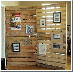 Wood Pallet Divider Wall