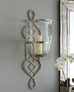 Superior Global Views Fretwork Hurricane Sconce   Traditional   Wall Sconces     By  Horchow Design Ideas