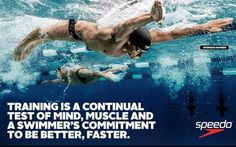 True for swimmers...and anyone else serious about improving their physical performance.