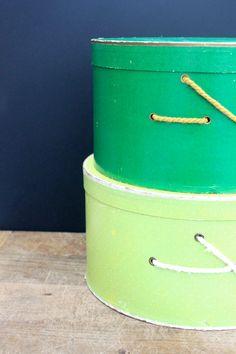 #Vintage #Hat #Box - Set of 2. $ 28.00, via Etsy. #storage