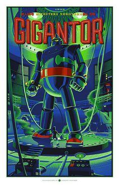 Dark Hall Mansion Announces Laurent Durieux's Gigantor Prints On Sale Thursday, March Robots Vintage, Retro Robot, Arte Sci Fi, Sci Fi Art, Illustrations, Illustration Art, Laurent Durieux, Science Fiction, Omg Posters