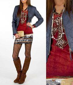 """Mingle Ladies""  #buckle #fashion  www.buckle.com.  ****Different leggings, but love the rest!****"