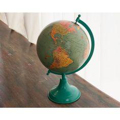 Small Turquoise Globe, PatinaStores.com