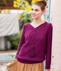 Siobhan Blouse Knitting Pattern | InterweaveStore.com