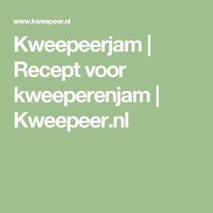 Kweepeerjam | Recept voor kweeperenjam | Kweepeer.nl