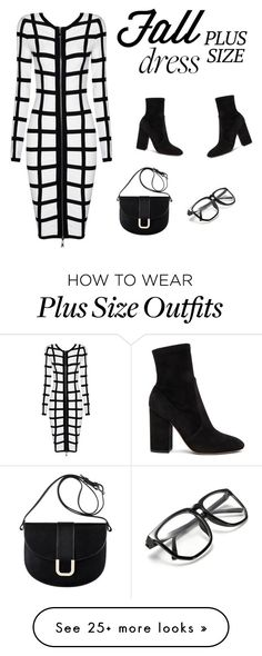 """Fall Look: Plus Size Dresses"" by alinepinkskirt on Polyvore featuring Valentino and A.P.C."