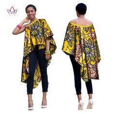 African Dress for Women Autumn sleeveless long-party-dress Dashiki embroidery african off the shoulder Plus Size African Tops, African Dresses For Women, African Print Dresses, African Print Fashion, Africa Fashion, African Attire, African Wear, African Fashion Dresses, Ethnic Fashion