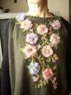 On the edge of fantasy: flower loom poncho