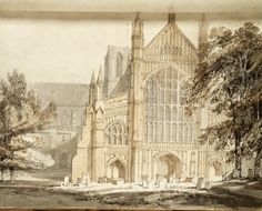 Winchester Cathedral by JMW Turner, 1795