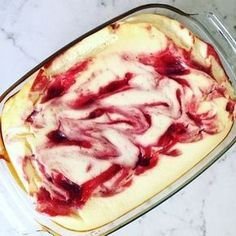 Adicto a la cazuela de quark (baja en carbohidratos) - con solo 4 ingredientes - Quark cazuela receta mermelada de fresa – www. Low Carb Chicken Recipes, Low Carb Recipes, Healthy Recipes, Easy Recipes, Healthy Chicken, Crockpot Recipes, Low Carb Sweets, Low Carb Desserts, Lemon Desserts