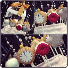New Year's Eve cake pops