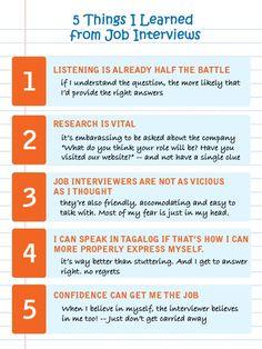 5 Things I Learned from #JobInterviews