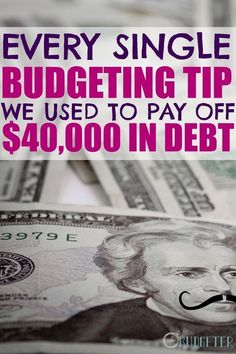 She used these budgeting tips to pay off $40,000 worth of debt and live debt free. HECK YES! This is one of the best money saving and budgeting blogs I've found!