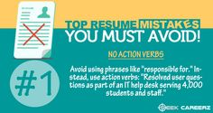 Some mistakes you should avoid doing! ‪#‎resume‬ ‪#‎seekcareerz‬